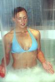 Woman enjoying the waterfall spa at the Fairmont Princess Hotel, Scottsdale, Prescott, Arizona