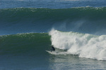 Surfing on the San Mateo Coast, California