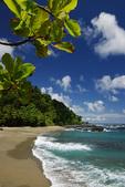 Beach on Isla Cano, Pacific Ocean shore of Costa Rica