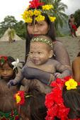 Embera tribe mother and son, Darien Jungle, Panama