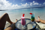 Drinks on Playa Kalki, Lodge Kura Hulanda and Beach Club, West End, Curacao