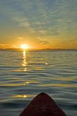 Sunset off Isla Espiritu Santo, from a kayak, Sea of Cortez, Baja California, Mexico