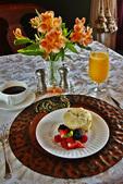 Breakfast at the Britt Scripps Inn, San Diego, California