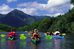 Kayaking the Hanalei River, Kauai, Hawaii