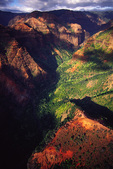 Aerial of Waimea Canyon, the