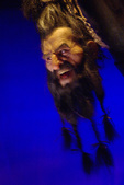 Blackbeard's head gives an audio-animatronic diatribe, Pirate Soul Museum, Key West, Florida