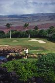 Teeing off the 3rd hole, Mauna Kea Golf Course, Mauna Kea Resort, Kohala Coast, Big Island, Hawaii