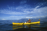 Kayaking to Ahihi Bay, from Makena landing, Maui, Hawaii