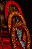 Neon blinking horseshoes, Fremont Street, Downtown Las Vegas, Nevada