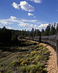 Riding to the South Rim on the Grand Canyon Railroad, from Williams, Arizona