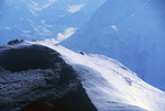 Climbers make the last pitch to the 20,320' summit of Mt. McKinley, Denali National Park, Alaska