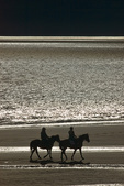 Horseback riding on the Homer Spit, Homer, Alaska