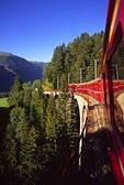 Riding the Swiss Rail system through the Swiss Alps, Switzerland
