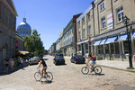 Exploring Old Montreal by bicycle, Canada