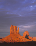 Shadow of The West Mitten on the East Mitten, Monument Valley Tribal Park, Arizona