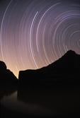 Star tracks over the Colorado River, Grand Canyon West, Arizona