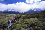 Hiking to Lago Nordenskjold, below Los Cuernos, Torres del Paine National Park, Patagonia, Chile