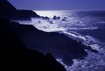 Big Sur in simulated moonlight, California