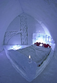 Reflexion Suite at the Ice Hotel, Station Duchesnay, outside Quebec City, Canada