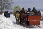 Sleigh rides are ever popular at the Winter Carnaval, Quebec City, Canada