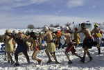 The ritual of the snow bath is a very popular event during the Winter Carnaval, Quebec City