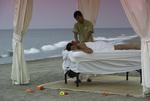 A beach massage at twilight by the Ohtli Spa, Marriott CasaMagna, Puerto Vallarta, Mexico