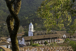 Overview of San Sebastian, in morning light, Mexico