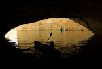 Kayaking in Forgotten Canyon in Lake Powell, Utah