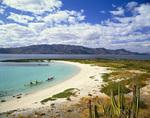 Kayaking the shore of Isla Coronado, Sea of Cortez, Baja California Sur, Mexico