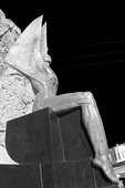 Art Deco statues adorn the plaza by Hoover Dam, on the Nevada side