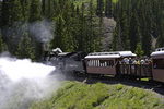 The Cumbres & Toltec Scenic Railroad, en route from Antonito, Colorado to Chama, New Mexico