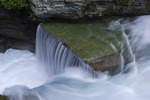 clean pure glacial runoff in St. Mary's Falls, Glacier National Park, Montana