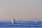 Sailing off Laguna Beach, Southern California