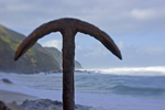 The anchor of the 'Fiji', on Wreck Beach, Great Otway NP, Victoria, Australia