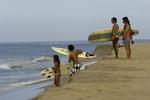 Sizing up the surf off Todos Santos, Baja California Sur, Mexico