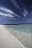 An empty beach on Isla Coronado, Baja California Sur, Mexico