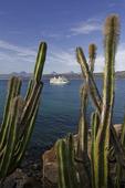 The Spirit of Endeavor off Isla Coronado, small ship cruising in the Sea of Cortez, Baja California Sur, Mexico