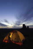 Camping near the Mittens, Monument Valley, Arizona