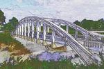 Marsh Rainbow Arch Bridge on old Route 66, Kansas