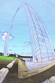 St. Louis Arch in summer, St. Louis, Missouri