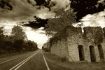 Old Route 66 passes through Plano, Missouri