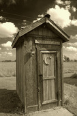 Outhouse at Red Oak II, off old Route 66, Carthage, Missouri
