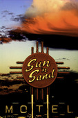 Sun 'n Sand Motel under full moon, Tucumcari, NM