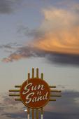 Sun 'n Sand Motel under full moon, Tucumcari, NM