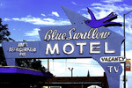 The Blue Swallow Motel survives on old Route 66 in Tucumcari, New Mexico