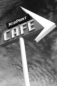 The Midpoint Cafe sign still lures travelers on old Route 66 in Midpoint, Texas