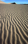Wind sculpted sand and dunes, Mesquite Flats dune field, Death Valley National Park, California