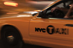 Taxi cruising the streets of New York City