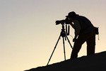 Photographing sunrise in Death Valley National Park, California