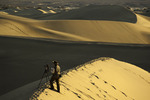 Shooting sunrise on the Mesquite Flats Dunes, Death Valley National Park, California